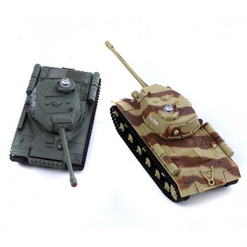 Радиоуправляемый танковый бой HUAN QI 529 ИС-2 масштаб 1:48 (2 танка по 20 см, звук)